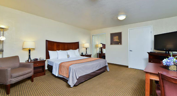 King Bed Room at Comfort Inn Monterey Bay